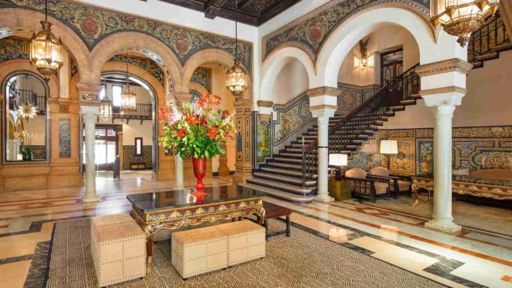 Lobby of Hotel Alfonso XIII