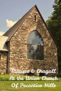 Union Church of Pocantico Hills in New York has all of its stained glass done by modern masters, Matisse and Chagall