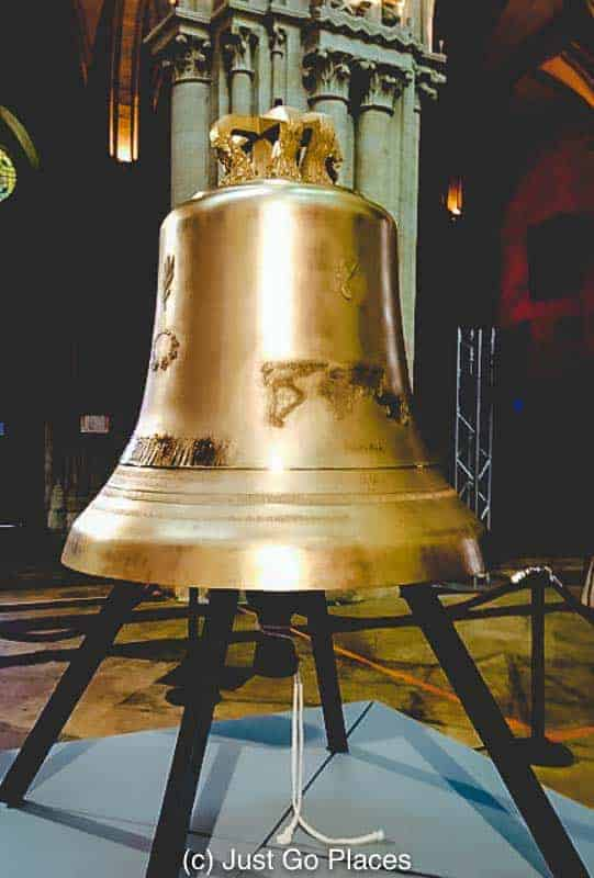 This bell, named Therese-Benedict, was installed at the Bayeux Cathedral to commemorate the 70th anniversary of D-Day.