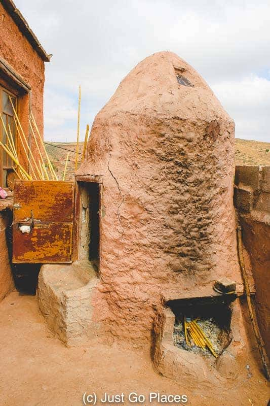 A sauna at a Berber home in the Ourika Valley