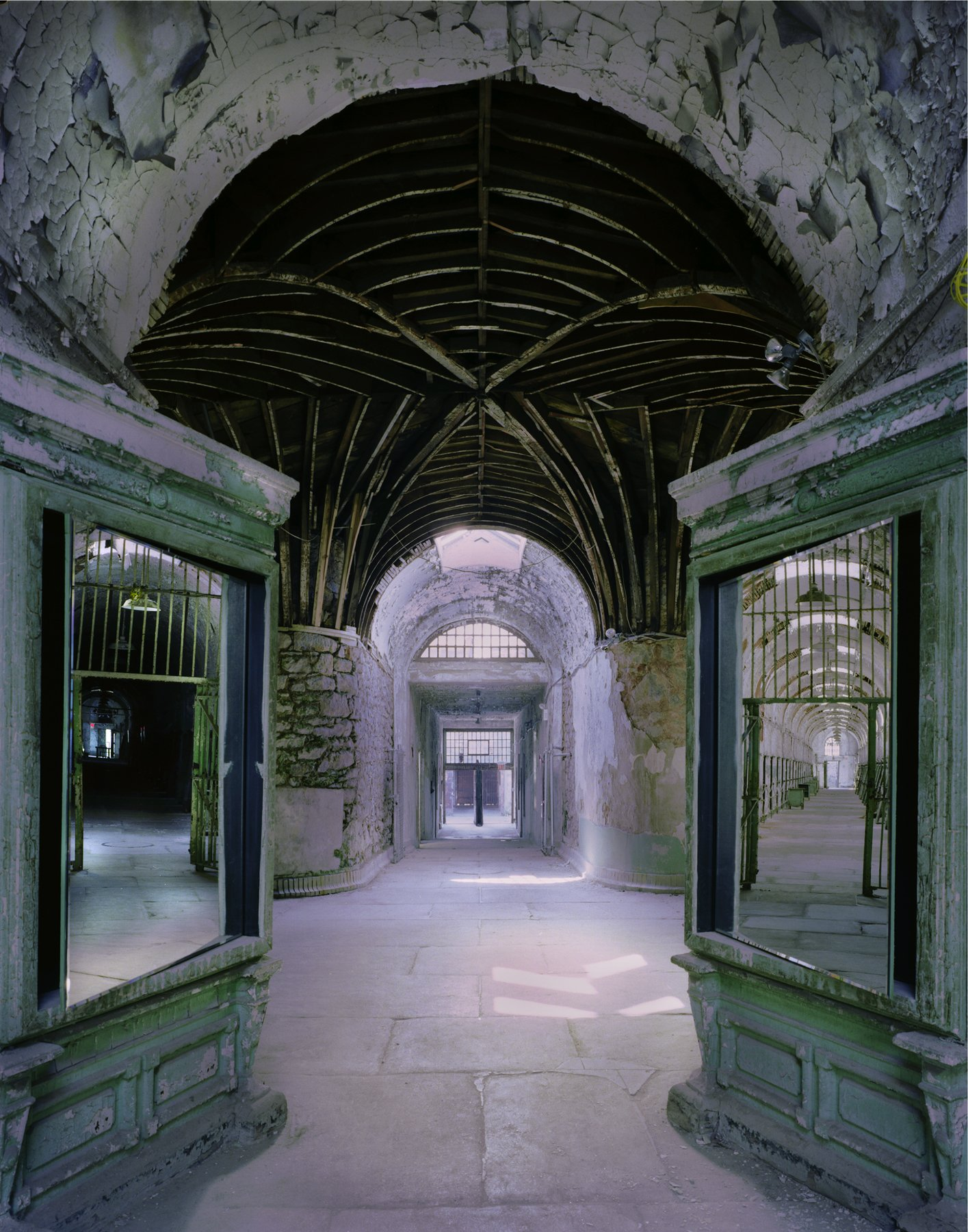 Surveillance Mirrors at Eastern State Penitentiary in Philadelphia