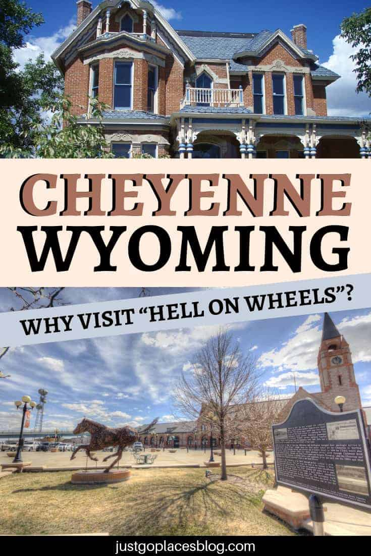 "If you were a 19th century American pioneer woman, would you go to a town that was nicknamed ""Hell on Wheels""? Probably not. But luckily, the town of Cheyenne, Wyoming, is today a delightful destination. Cheyenne, Wyoming has many things to do with kids: visit it and discover why this town was known as Hell on Wheels on your next Wyoming Road Trip. #Cheyenne #Wyoming #RoadTripUSA #usa #hellonwheels"