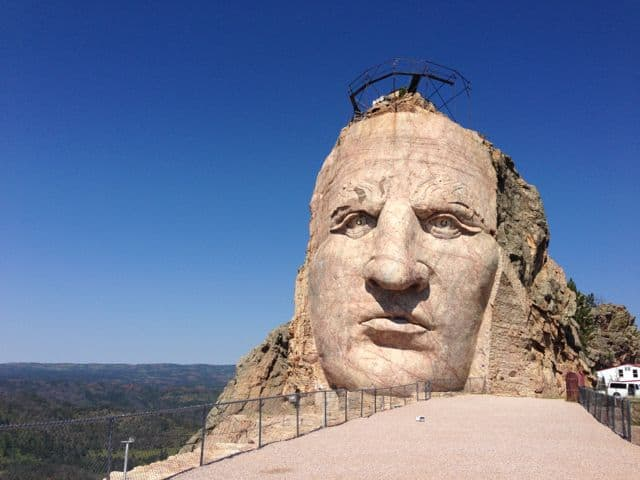 The World's Largest Mountain Carving:  Crazy Horse Memorial