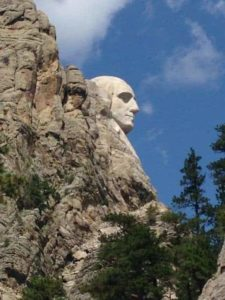 washington in profile at rushmore