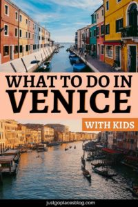 Heading to Venice with kids? They'll love it! If you're looking for the best things to do in Venice with children, don't miss this blog post. What about speeding on a water taxi, spending some time at the Lido Beach, discovering the islands of Burano and Murano and more! Check out what to do in Venice, Italy with the whole family #venice #veniceitaly #venezia #travelwithkids #italy #italytravel #italyvacation