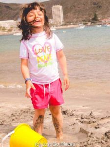 My daughter loves white sand beaches in Tenerife as well.