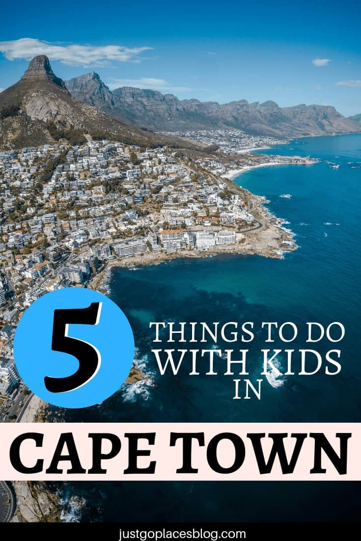 Cape Town is a fabulous city to visit with children. It has got great weather, cheap and easy transportation and lots of good dining options. Check out the 5 best things to do in Cape Town with kids - it includes the Table Mountain and some beautiful beaches! Discover how you can enjoy Cape Town with children. #capetown #southafrica #southafrican #africa #kidfriendly