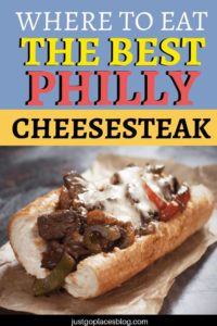 One thing is for sure: you can't go to Philadelphia and not have a Philly cheesesteak. The Philly Cheese steak is a long roll filled with thinly sliced steak sautéed with onions and cheese, and you find it all over town. But where to find the best cheesesteak in Philadelphia? Click to find out - and maybe try the taco version of the cheesesteak too! #philadelphia #foodie #sandwich #cheesesteak #phillycheesesteak