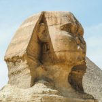 The Sphinx at the Pyramids of Giza