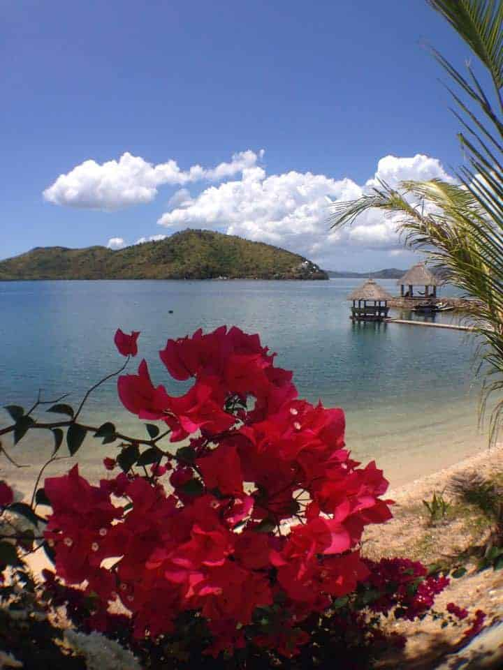 The beach at the resort in Coron