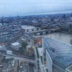 view from Oblix at sunset from the Shard in London