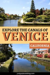Venice Beach is not just the boardwalk. Walk just a few minutes and you'll find the Venice Beach canals. Discover how to spend one day in Venice Beach, California + the best things to do in Venice Beach and how to explore the canals of Venice Beach, Los Angeles. #venicebeach #canals #losangeles #california #visitcalifornia