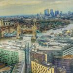 view from Obelix at The Shard London