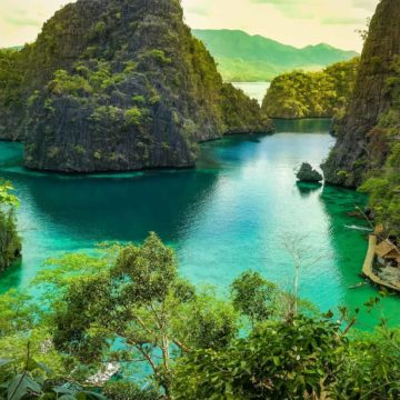 Lake in Coron Palawan The Philippines