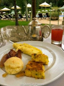 Breakfast at the Belmond Hotel de las Cataracts in Iguassu Falls