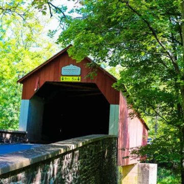Covered Bridge in Bucks County Pennsylvania
