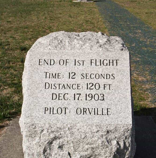 The Wright Brothers First Flight at Kitty Hawk