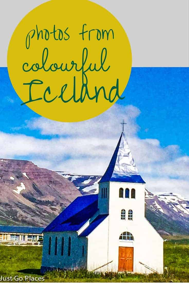photos from the colourful and charming corrugated steel construction in Iceland