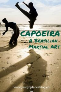Visiting a capoeira exhibition in Sao Paulo