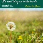 happiness quote from Corrie Ten Boom