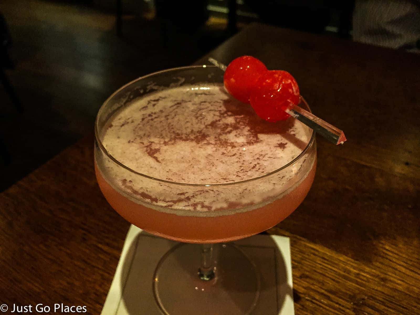 A cocktail from Trishna, a Michelin Star restaurant in Marylebone London