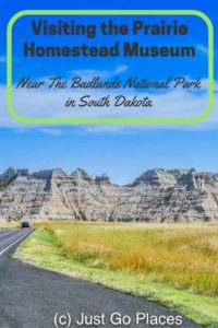 visiting the prairie homestead museum in South Dakota with kids