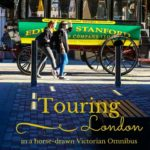 A horse drawn Victorian omnibus tour of London
