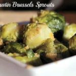 Gratin brussels sprouts