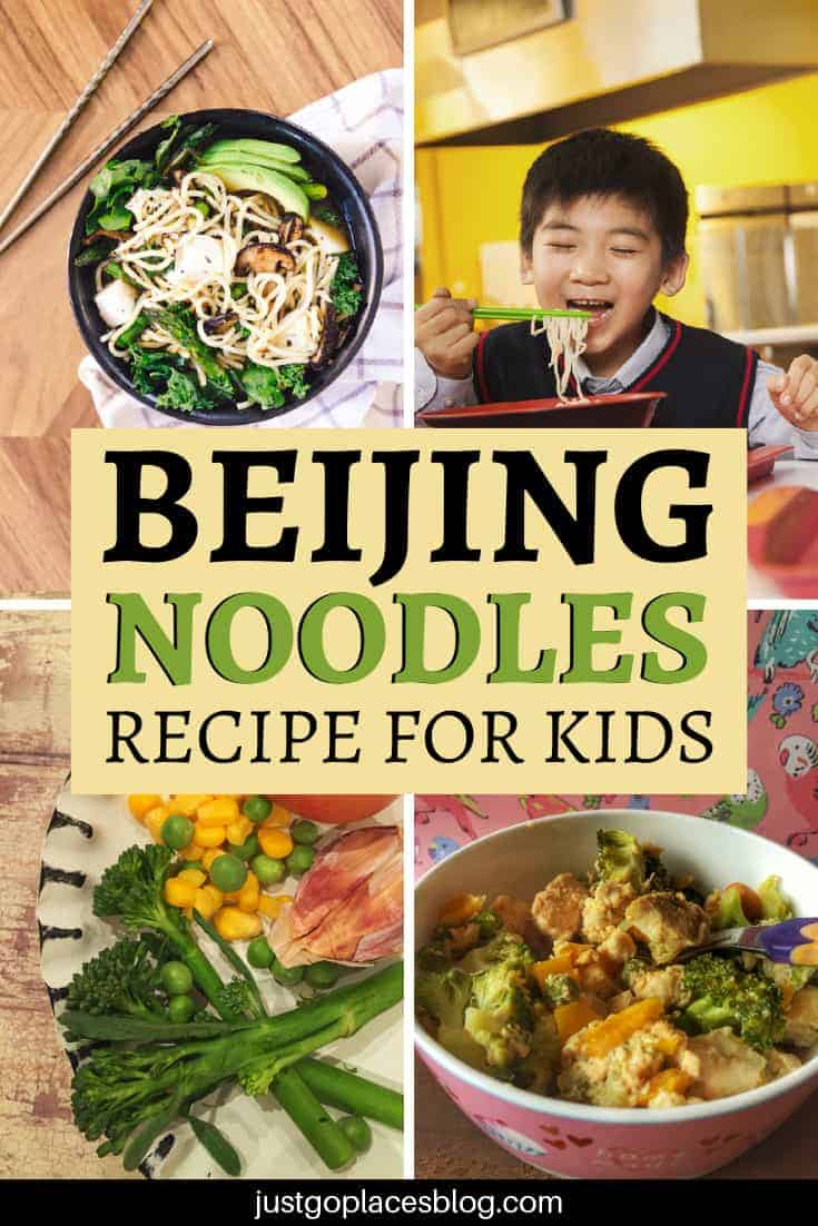 The kids are hungry and you have limited time for making dinner. This scenario sounds familiar? Then check out this recipe - Beijing Stir Fried Noodles are a super easy, fast (it only takes 15 minutes) and yummy dish. The best part is that your kids will love it too! Click for the Beijing Noodles recipe, one of the easiest noodles stir fry recipes you'll find. #noodles #stirfry #kidfriendly #recipe #beijingnoodles #recipeideas