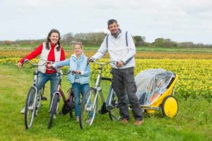 Dutch family biking