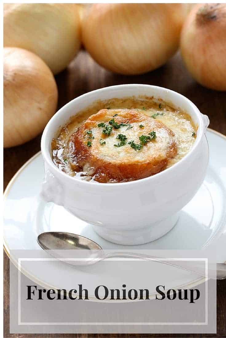 A recipe for French Onion soup that you can make in a slow cooker