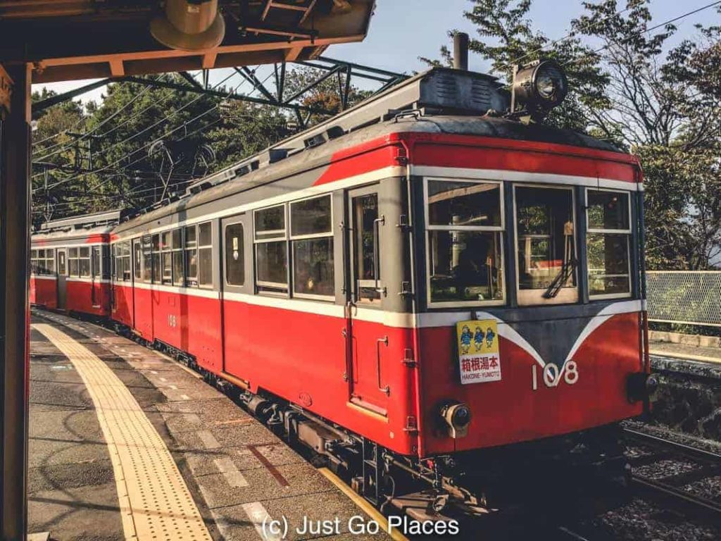 The Hakone Tozan light railway in Hakone