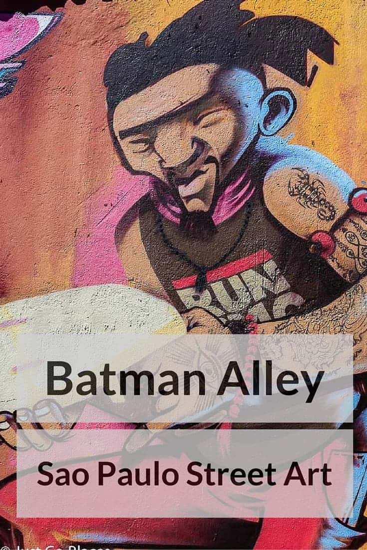 street art in Sao Paulo Batman Alley