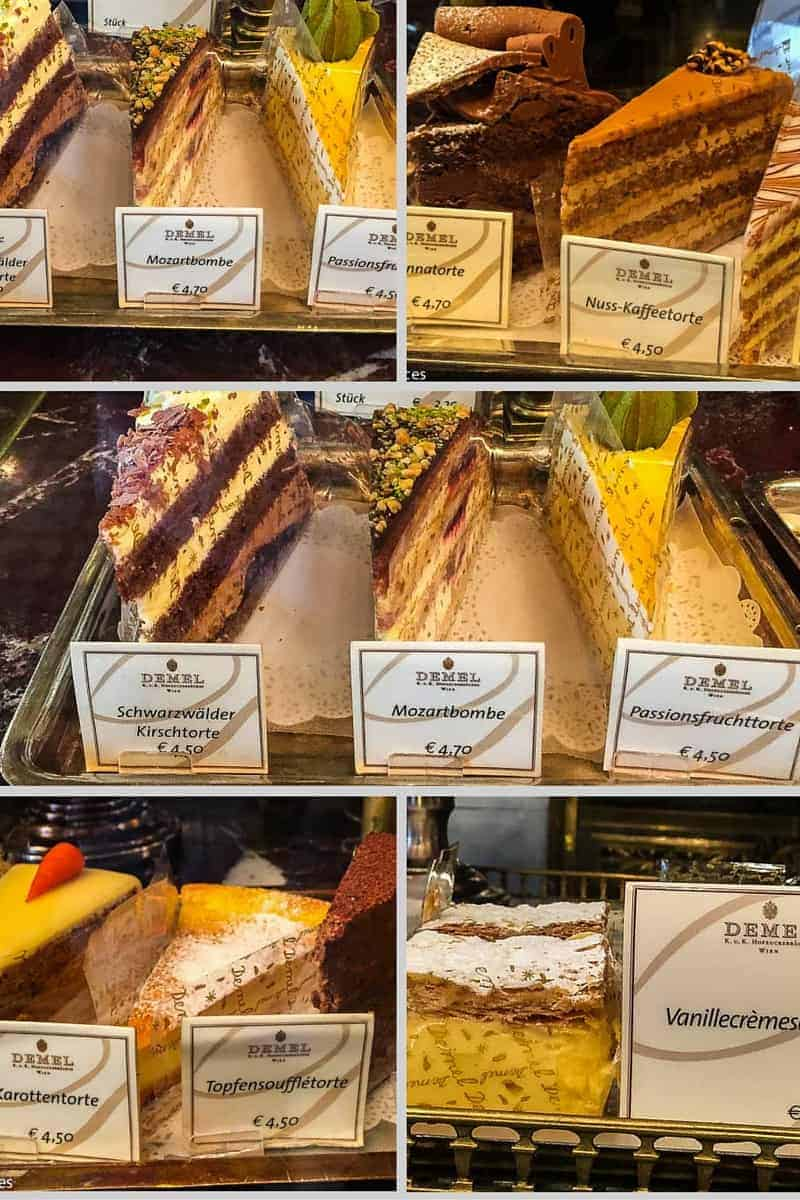 cakes at Demel Cafe in Vienna