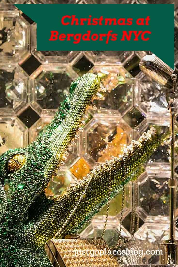 Christmas at Bergdorf Goodman, an iconic luxury store in NYC