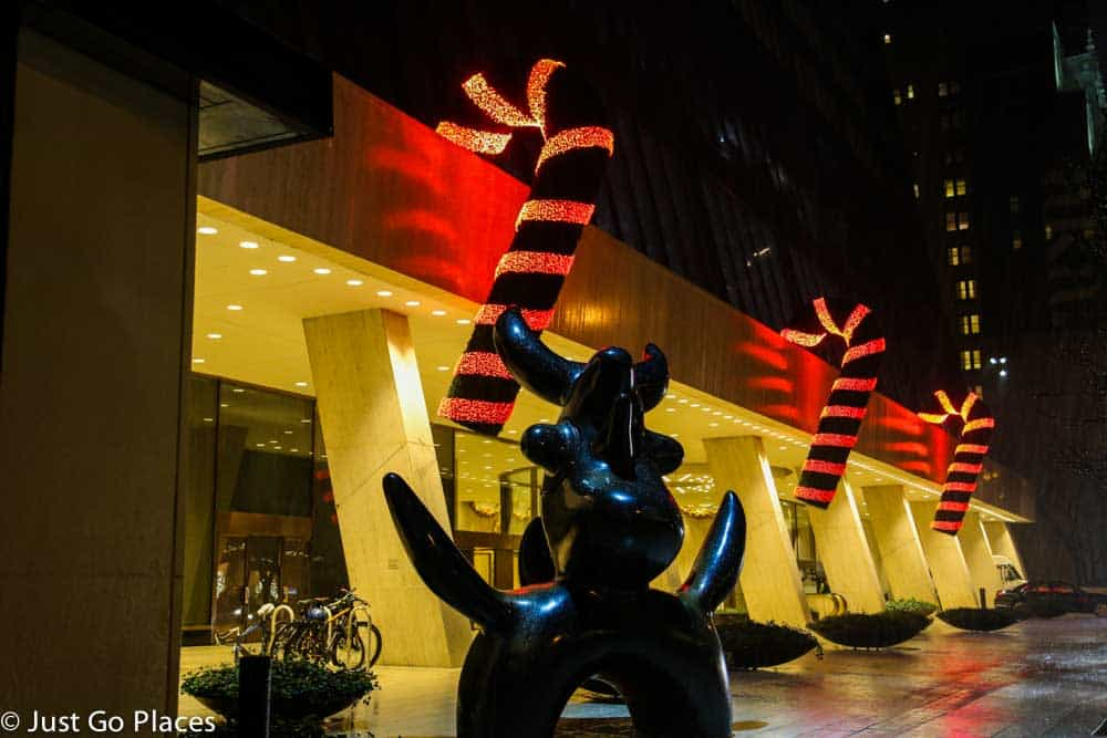 giant candy canes in Manhattan