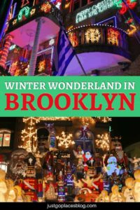 In New York for Christmas and thinking about visiting the Christmas lights at Rockefeller Center? Fuhgettaboudit. In New York City, the spectacle you need to see are the Christmas lights in Brooklyn. Discover why Brooklyn makes for the perfect Winter Wonderland experience. #brooklyn #nyc #winterwonderland #christmaslights