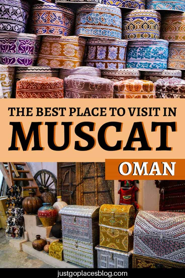 Looking around Muttrah Souq in Muscat, my eyes were drawn to the sparkle of colourful clothes. The smell of spices and incense wafted through the air and the low murmur of Arabic voices enticed me deeper into the market. Check out why you need to visit the Muttrah Souq in Muscat, one of the oldest market places in the Arab world. According to me, it's one of the best things to do in Muscat! #oman #muttrahsouq #muscat #souq #omantourism #souk