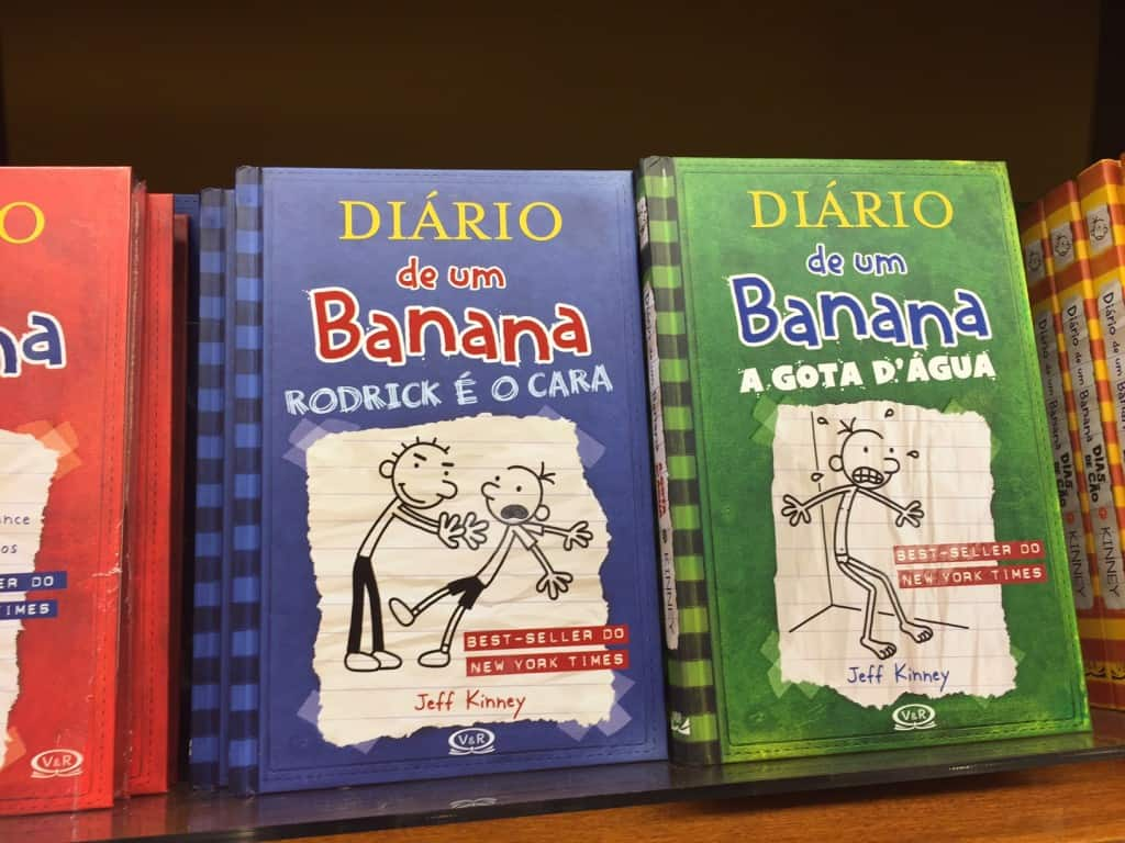 Diary of a Wimpy Kid translates in Portuguese to Diario de un Banana