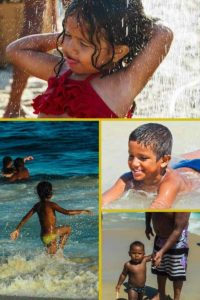 kids on the beaches of Rio
