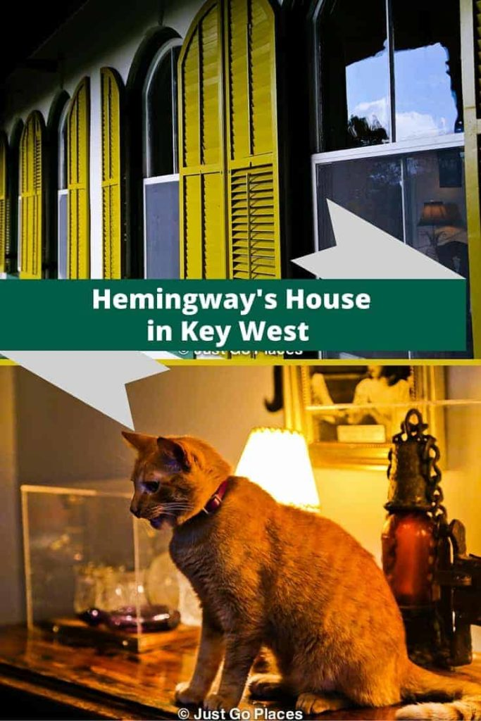 visiting Hemingway's House in Key West Florida
