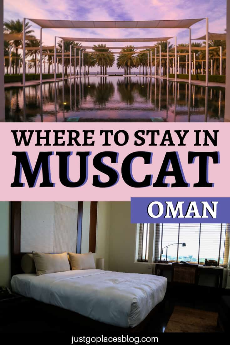 We couldn't choose between The Shangri La Hotel in Muscat and the Chedi Muscat Hotel. I know, I know – #firstworldproblems. If you're wondering where to stay in Muscat when you travel to Oman with your kids, the Chedi Muscat Hotel will impress you and your family. Check out why this is one of the best luxury Hotels in Muscat, Oman, and also family friendly. #LuxuryHotel #HotelReview #OmanTravel #oman #muscat #OmanArchitecture| #MuscatTravel