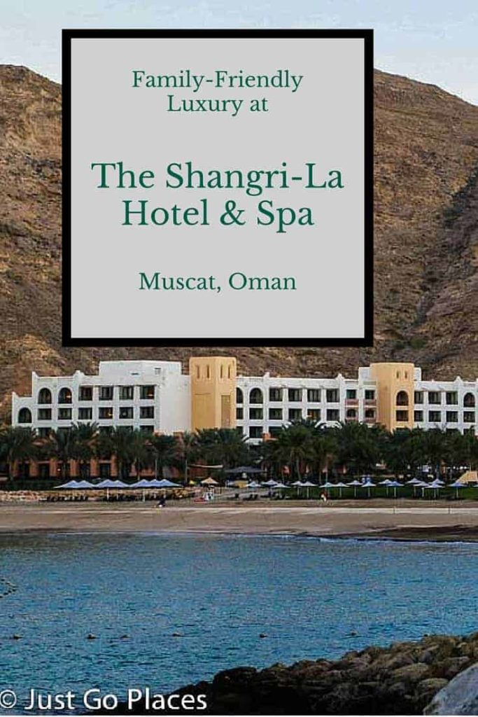 The Shangri La in Muscat in the Sultanate of Oman has two family friendly hotels providing a luxury escape for the whole family.