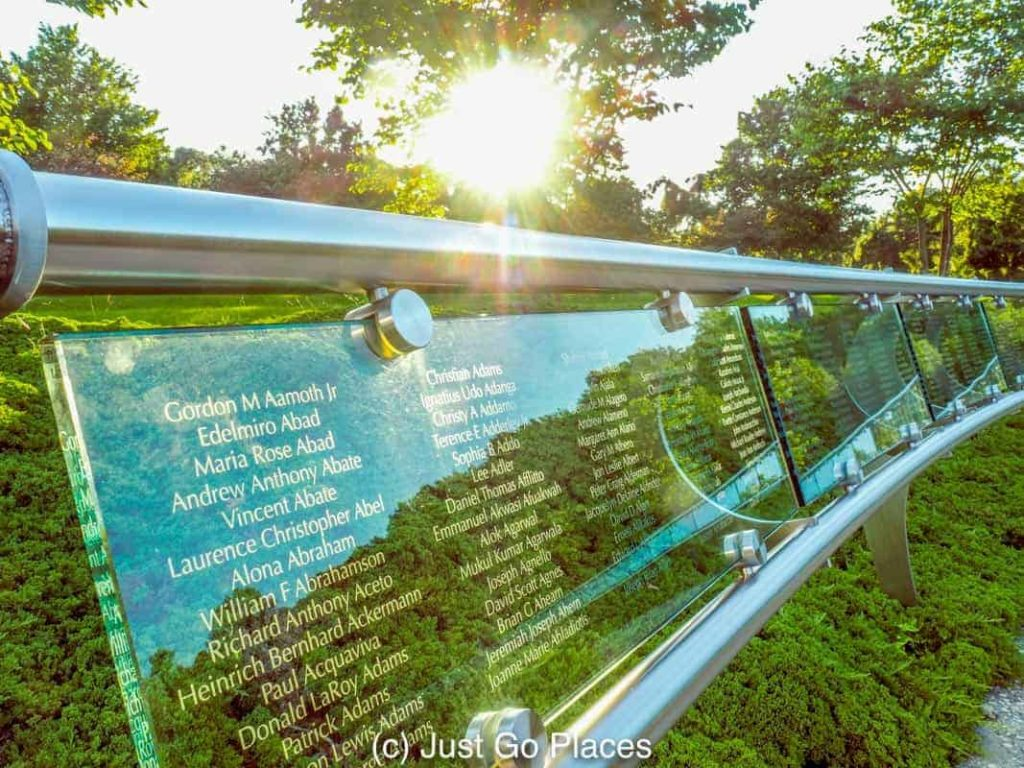 The Garden of Reflection 9/11 Memorial in Bucks County