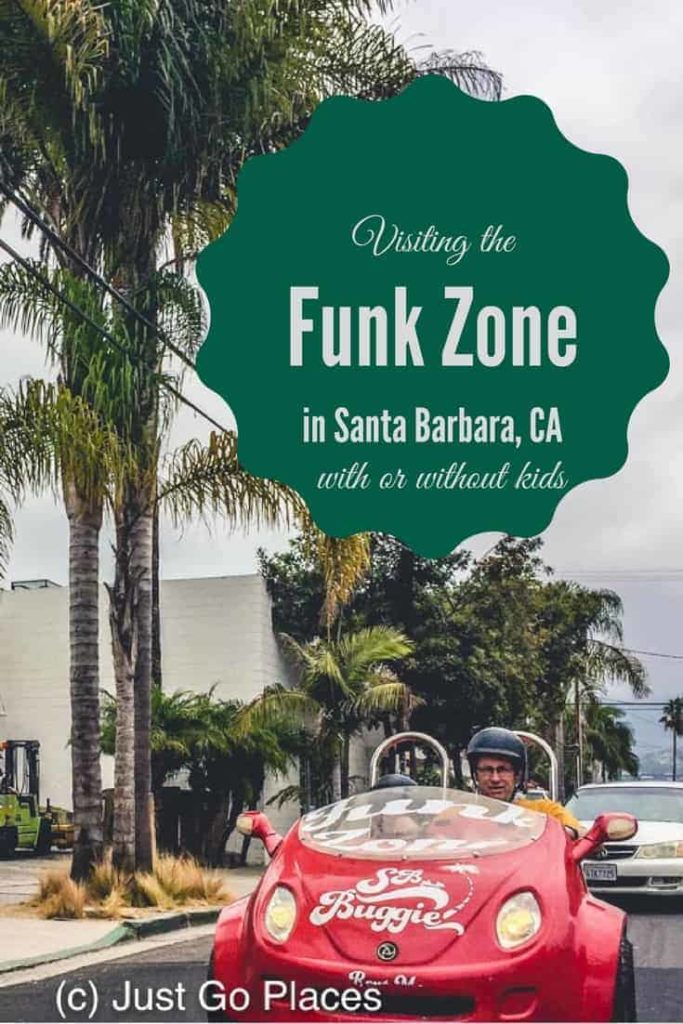 visiting the Funk Zone district in Santa Barbara California