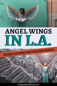 You know those famous angel wings murals in Los Angeles? I'm sure you've seen them on Instagram! Discover where to find the angel wings in LA and learn more about the history of The Global Angel Wings Project. The Angel wings street art graffiti can actually be found in far away places such as Kenya! #globalangelwingproject #angelwings #streetart #murals #losangeles #la