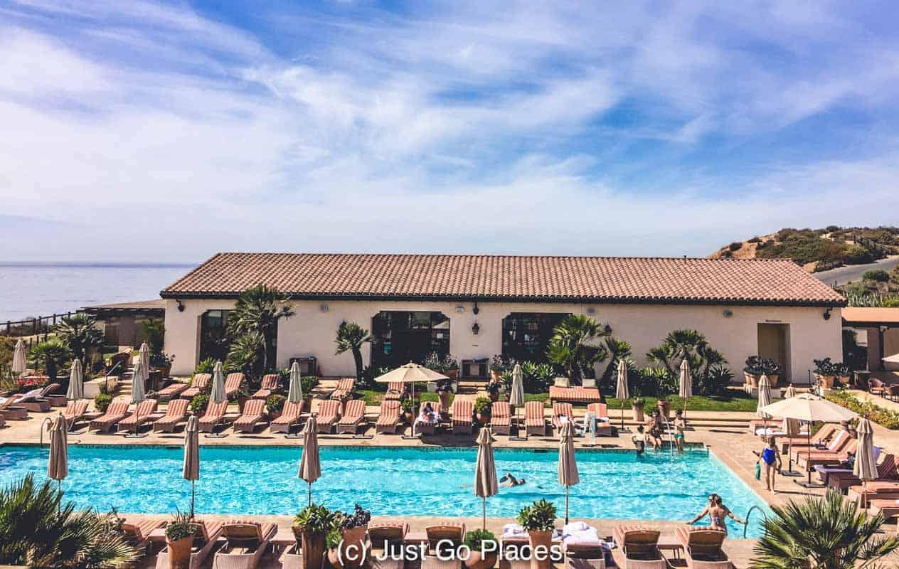 The Terranea Spa pool at Terranea Resort California