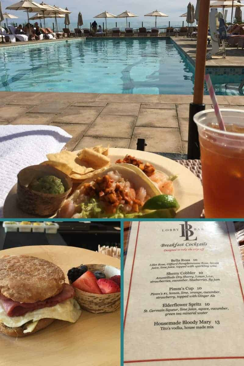 Terranea restaurants on site offer a variety of healthy meal options.