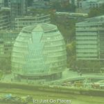 A View From The Swiss Re Tower AKA The Gherkin Building in London