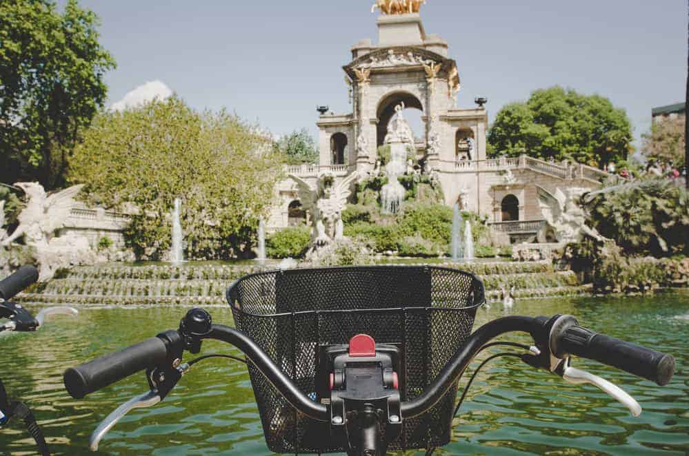 Barcelona a city with child friendly cycle routes for family cycling